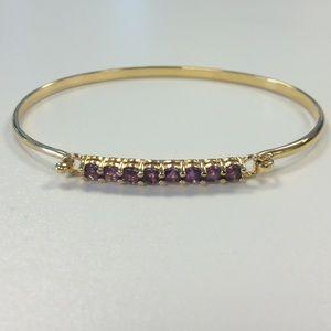 Jewelry - Amethyst & Gold Bracelet