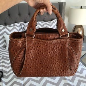 Faux Ostrich leather tote bag