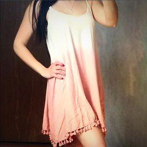 ValMarie Boutique Dresses - BOHO Ombré Mini Dress with Tassel Trim