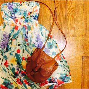 F21 Floral Strapless Dress