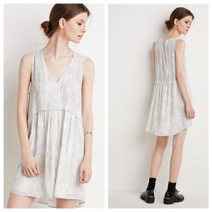 Forever 21 Gray and White Dress