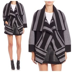 BURBERRY BRIT DRAPE WOOL & CASHMERE SWEATER JACKET