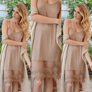 Other - Lace Dress Extender in MOCHA