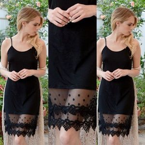 Other - Lace Dress Extender in BLACK