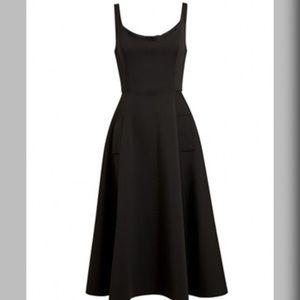 GlamVault Dresses & Skirts - LAST ONE 🆑 Black Scoop Neck Fit Flair Midi Dress