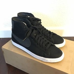 Nike Shoes - Nike Mesh Blazer Mid Black