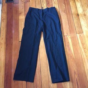 Jil Sander Pants - Jil Sander black pinstripe cotton pants it 40 4