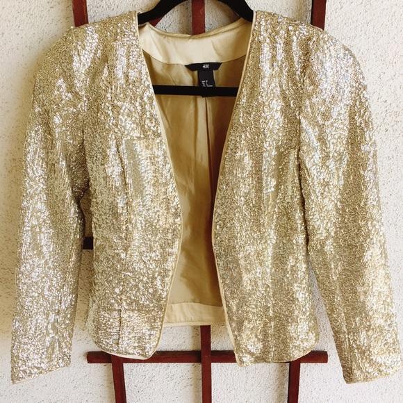 a7fcbdbbb H&M Gold sequin jacket