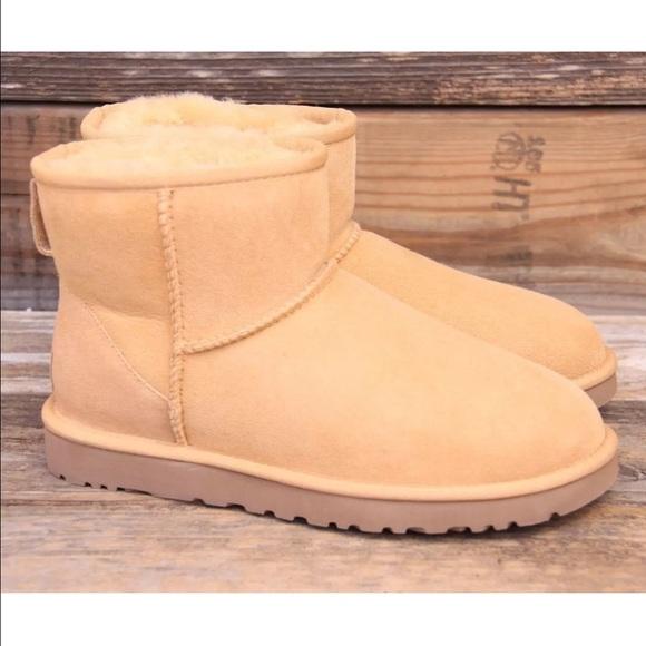 UGG Classic Mini Desert Sand Sheepskin Boots US 10