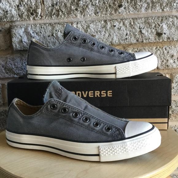 b0f2a1d550b6 New Gunmetal gray Converse slip on