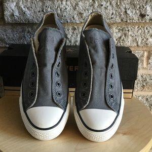 d519b3f08e56 Converse Shoes - New Gunmetal gray Converse slip on