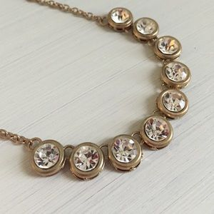 Gold Rhinestone Necklace!