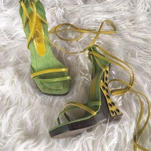 Platform Tie-up Sandals