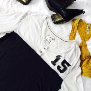 Free People Tops - Free People Oversized Henly Style Baseball Tee