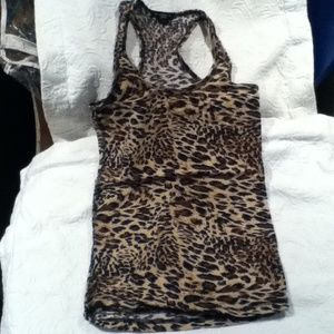 Tops - Racer back animal print top