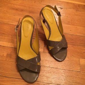 Boden patent sling back heels