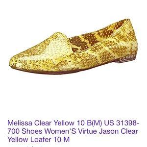 Melissa Shoes - NWOT Jason Wu + Melissa snakeskin rubber loafers