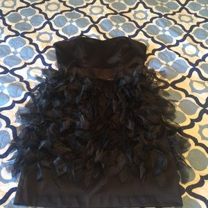 Black Ruffle Skirt Dress