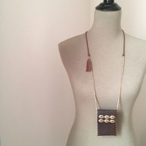 Vintage tribal ethnic  gold necklace STATEMENT