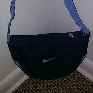 Nike light blue and dark blue purse