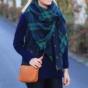 Brand new plaid blanket scarf