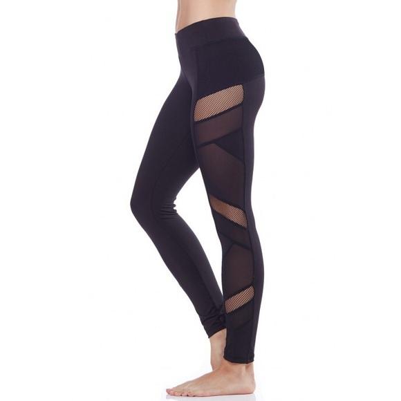 8a8d57ace52075 Electric Yoga Pants | Last Mediumsexy Mesh Panel Leggings | Poshmark