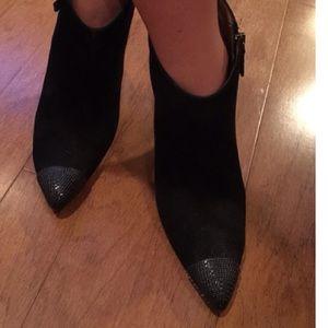 Zara cap toe booties