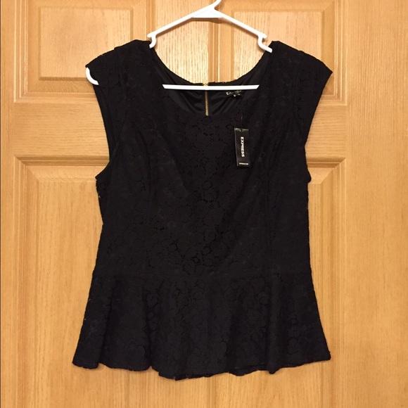 Black dress tops express