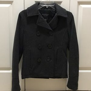 American Eagle Outfitters Jackets & Blazers - American Eagle - Grey Wool Blend Peacoat!