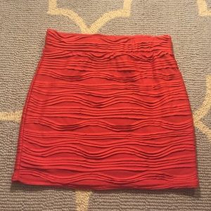 NWT Urban outfitters red mini skirt