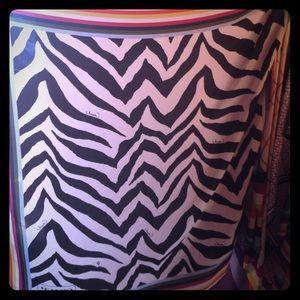 Legacy stripe with zebra print coach scarf