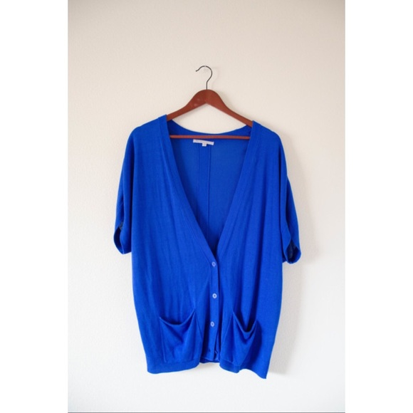 86% off GAP Sweaters - GAP Royal Blue Short Sleeve Cardigan from ...