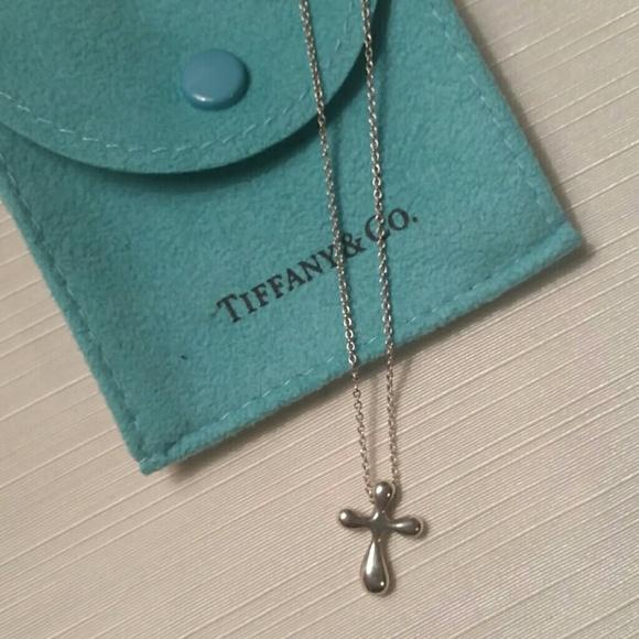 6d40864fc Tiffany & Co. Jewelry | Authentic Tiffany Co Elsa Peretti Cross ...