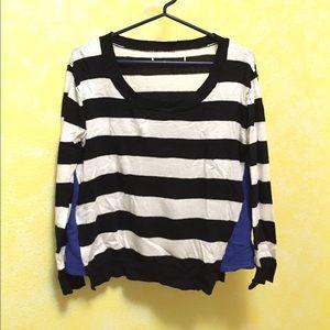 Vintage Havana Stripe Color Block Sweater