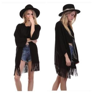 Tea n Cup Sweaters - SALE 🎀 Festival Fringe Cardigan Sweater