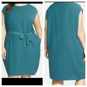 sejour Dresses & Skirts - FLASH SALE Sejour Belted Cap Sleeve Shift Dress