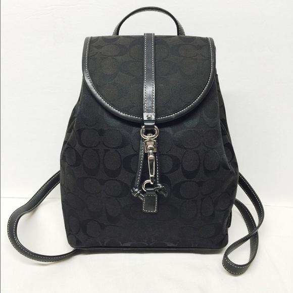 426c527d12 Coach Handbags - 🌟SALE🌟Coach Black Signature Small Backpack C Pri
