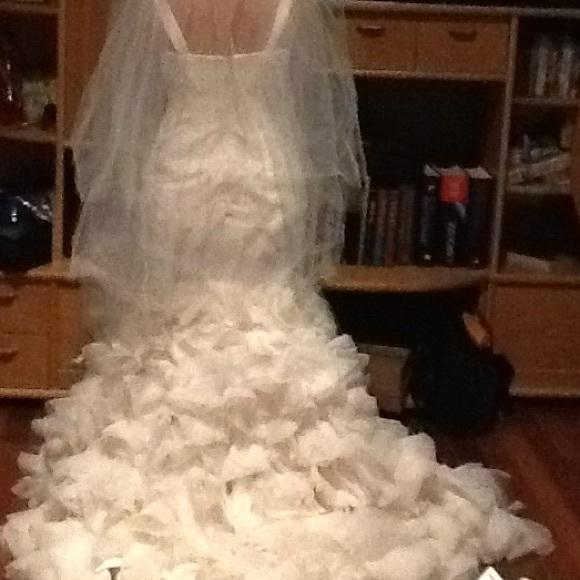 52 off vera wang dresses skirts vera wang wedding for White by vera wang georgette mermaid wedding dress