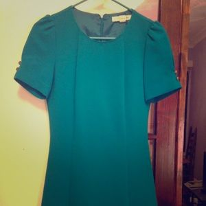 Tailored turquoise structured dress