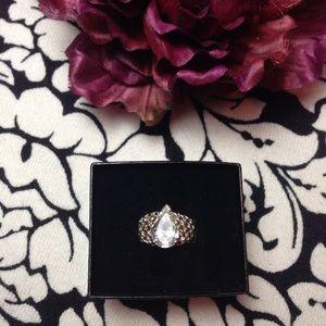 White Topaz & Silver ring