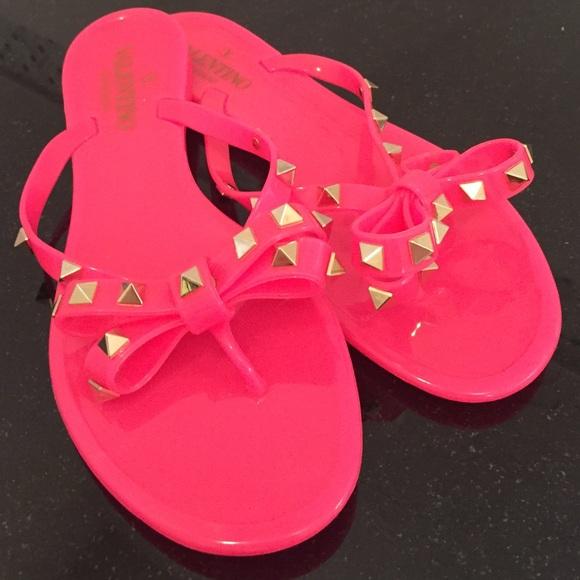 hot pink valentino sandals