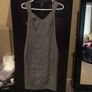 Black and white size 2 Express fitted dress.