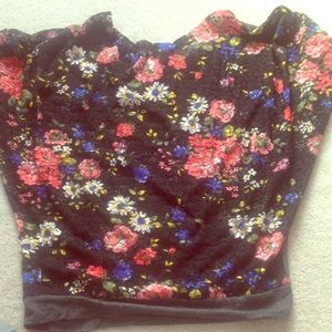 Zenana Outfitters Tops - Floral Lace Back Top