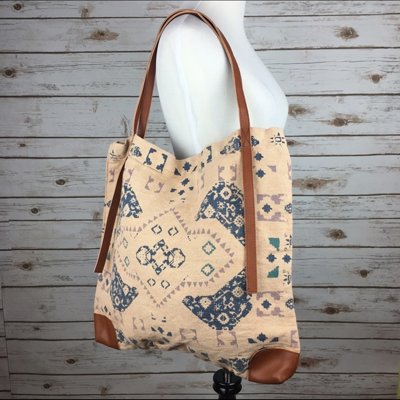 Free People Bags Boho Printed Tote Bag Yoga Tribal