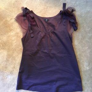 Gap royal purple India cotton top