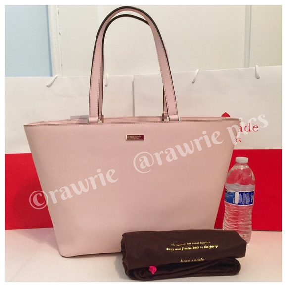 d53da051b2b5 New Kate Spade large pink saffiano leather tote