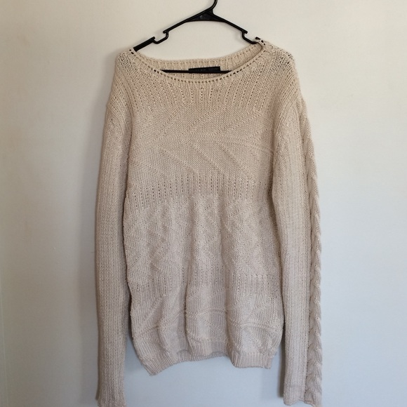 66ca8842a08 ZARA Oversized Textured Sweater