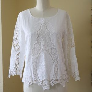 ModCloth Tops - ModCloth white lace blouse