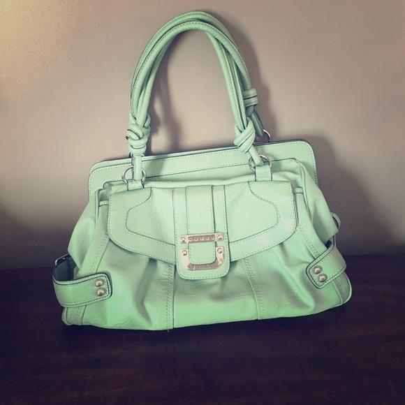 d95deb48d4 Guess Handbags - Large mint green purse