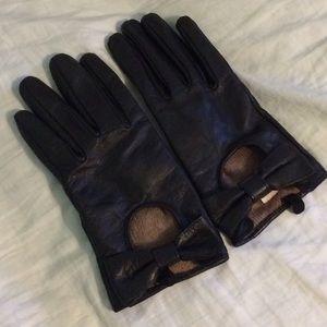 Merona Accessories - Black Leather Gloves